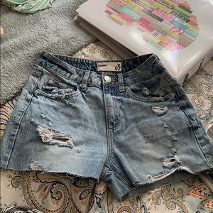 Jean shorts from garage store